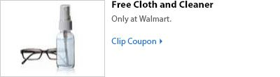 free eyeglass cloth and cleaner at walmart optical