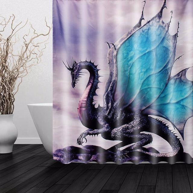 Fantastic Dragon Shower Curtain Awesome Decor