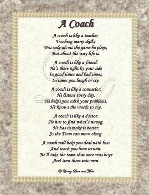 Quotes For Coaches Plaque QuotesGram by @quotesgram Coach - thank you letter to coach