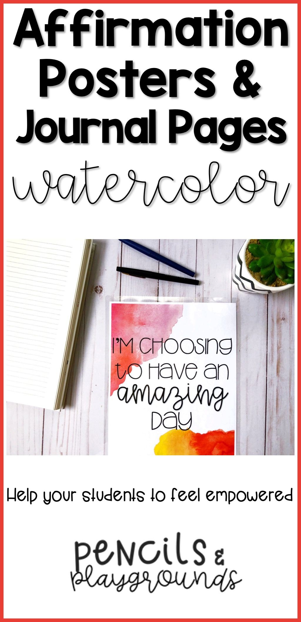 Positive Affirmations Posters Amp Journal Pages