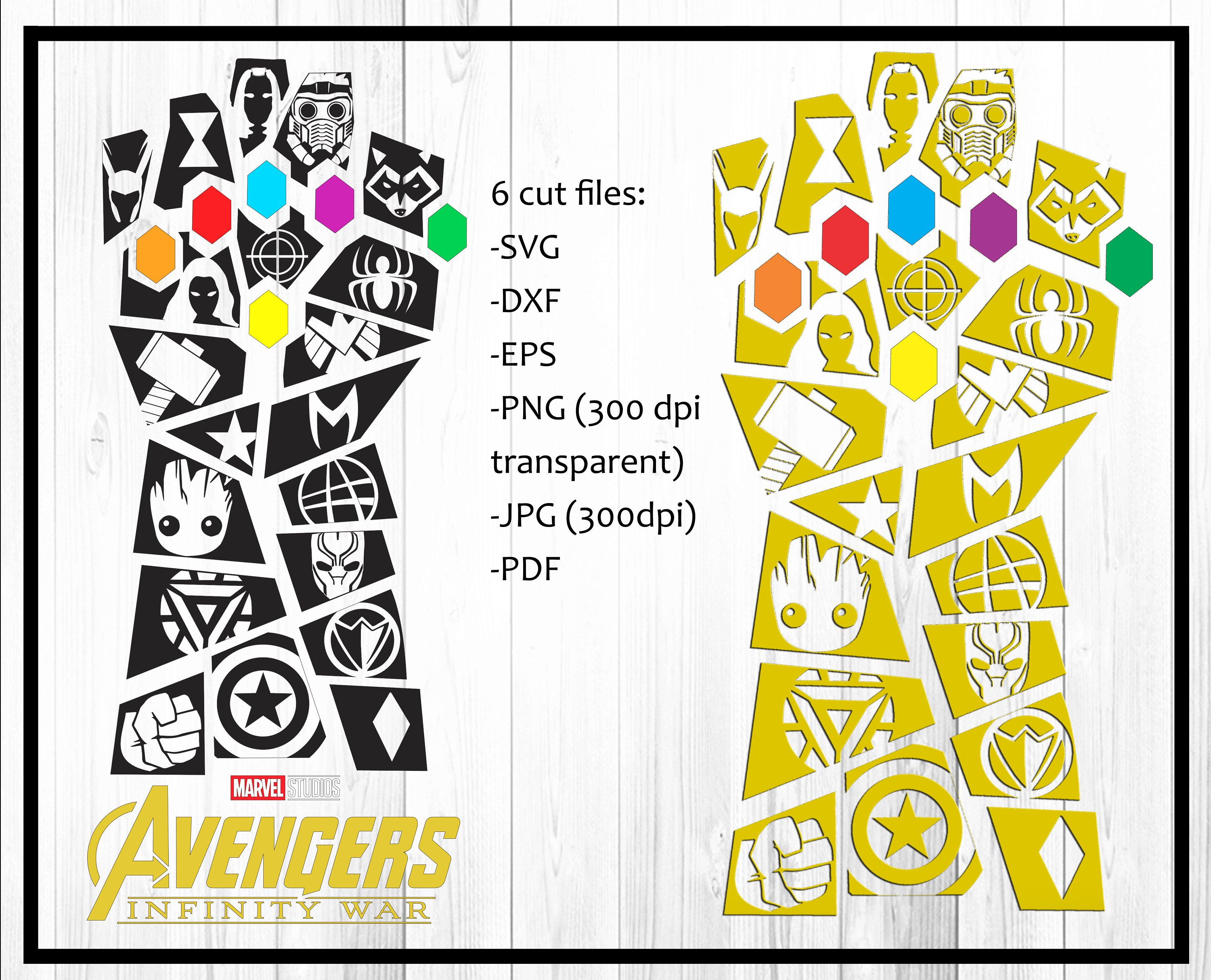 Avengers svg Infinity War svg, Thanos svg, dxf, eps, png