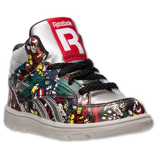 new product fd018 02372 Boys  Toddler Reebok Marvel Multi Hero Shoes   Finish Line   Silver Black  Red