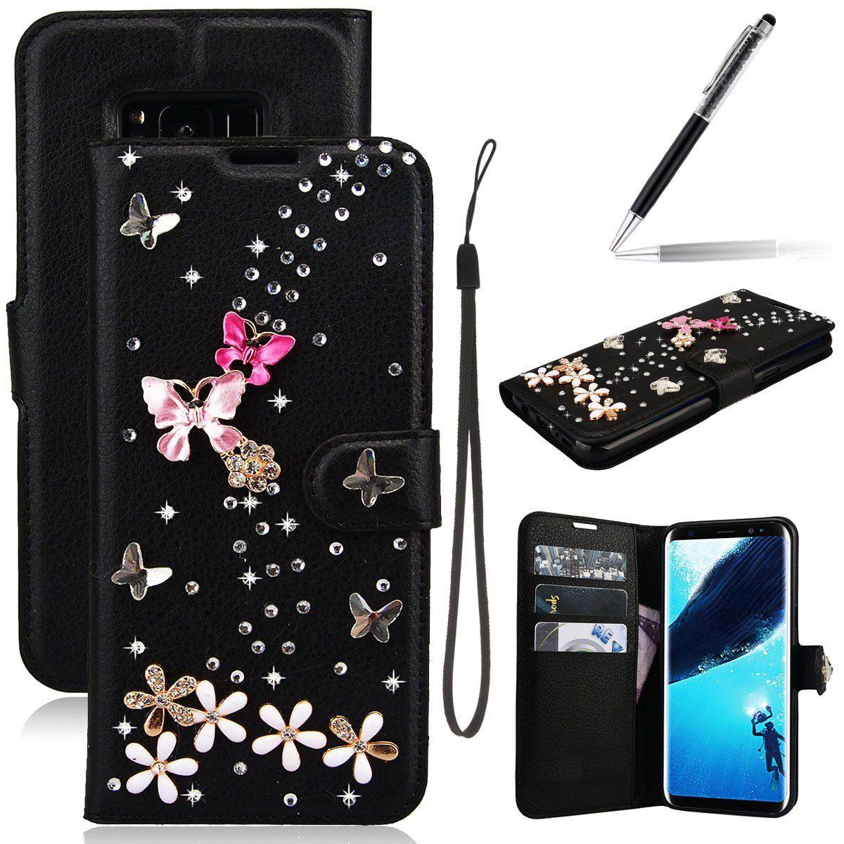 Grandever Samsung Galaxy S8 Glitzer Strass Hulle Leder Handyhulle Pin Enthalt Werbelinks Lederhulle Handy Samsung