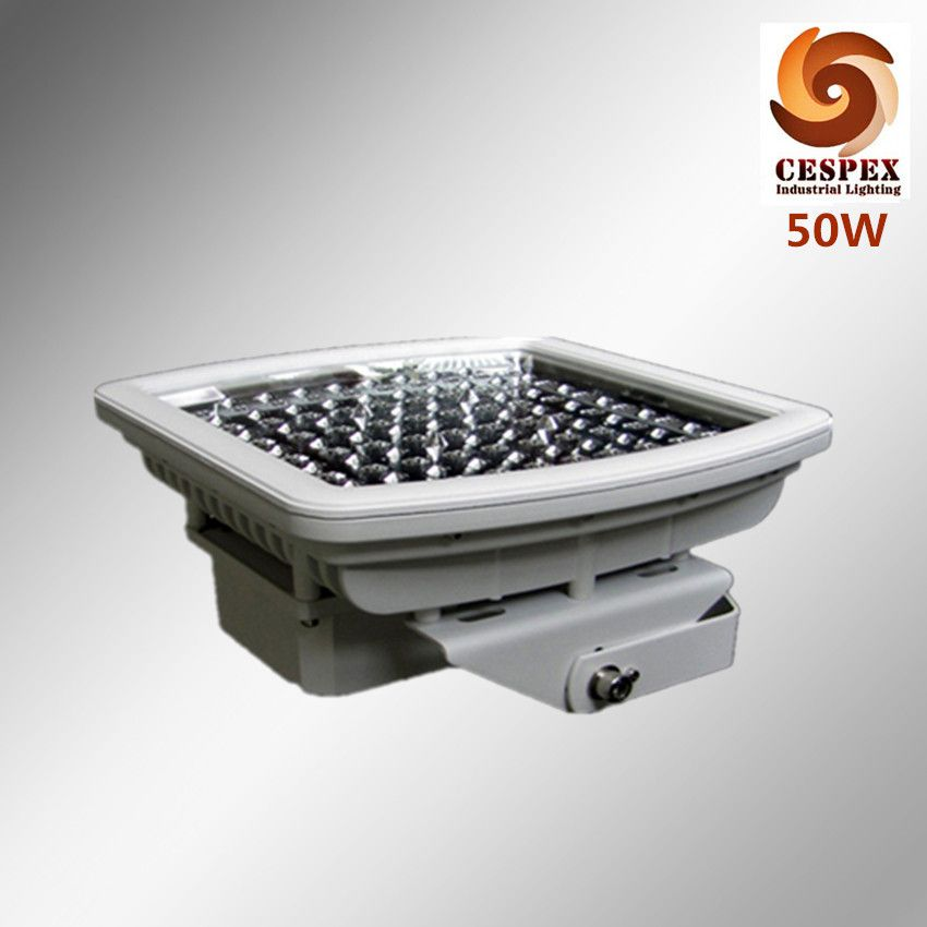 Ac100 277v 50 60hz Ip68 Ul Atex 50w Explosion Proof Led Light For Zone 1 Class I Hazardous Location And Gas Station Lighting Canopy Lights Led Lights Lighting