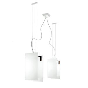 Linea Light Triad Lampadario 2 Luci Lampadari Moderni Lampadari Legno Di Noce