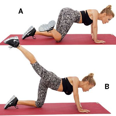 4 exercises for flat abs and trim hips  workout heath