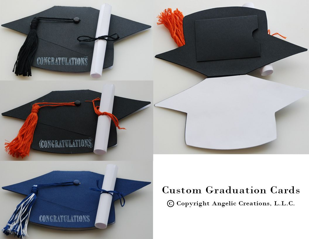 A simple graduation cap stamp turns into a 3-D fling when you cut ...