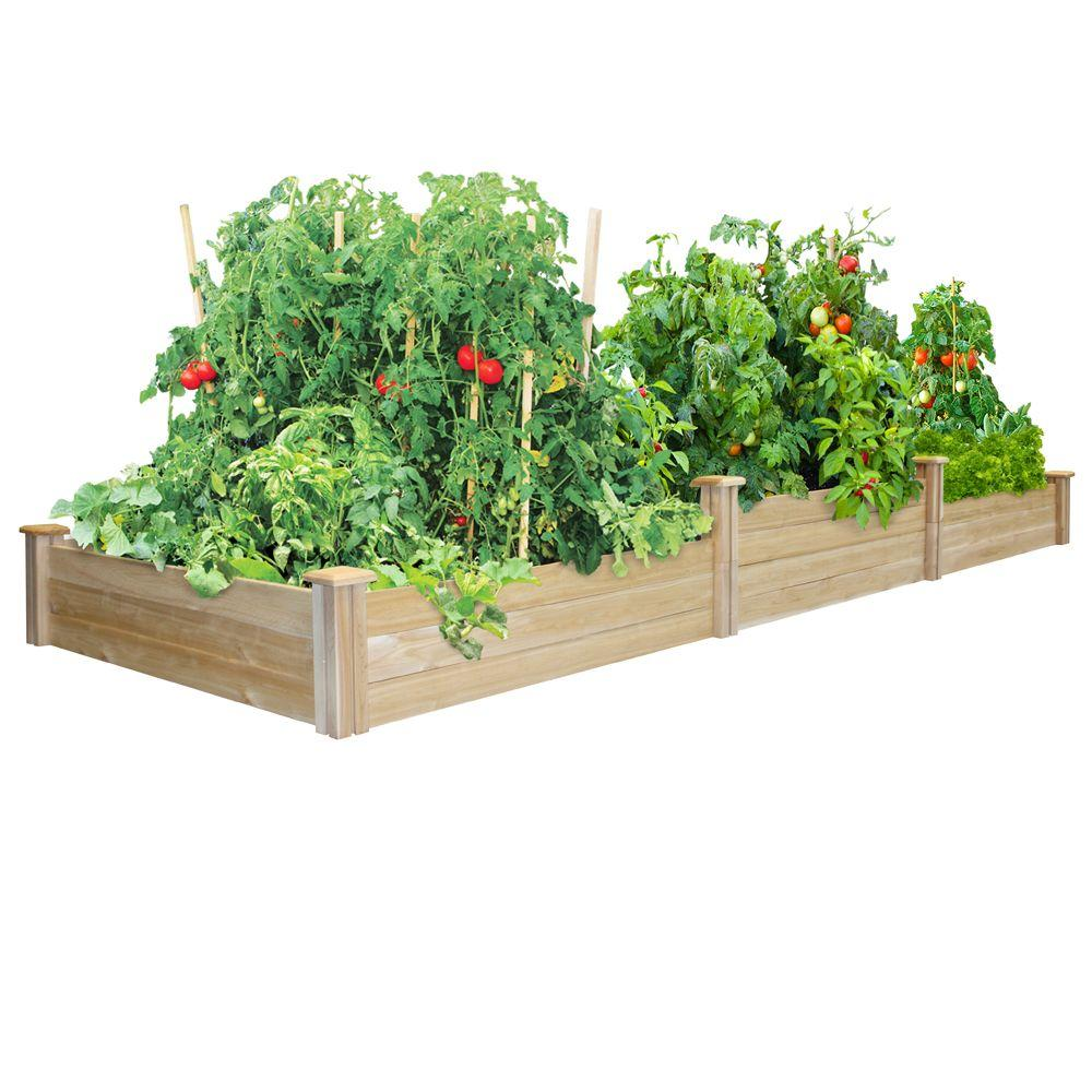 Greenes Fence Tall Tiers Dovetail Raised Garden Bed Rc4t8s34b At The Home Depot Cedar Raised Garden Beds Raised Garden Cedar Raised Garden