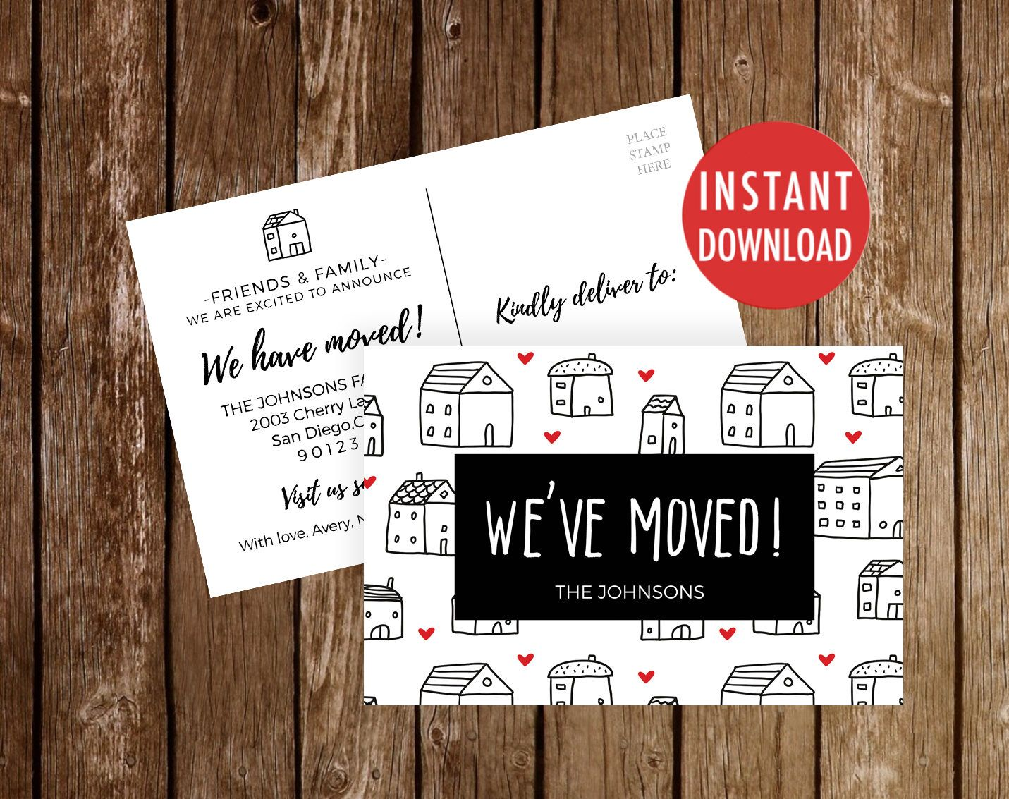 We Ve Moved Postcards Template Moving Announcement We Etsy In 2021 Weve Moved Postcards New Address Cards Moving Announcements