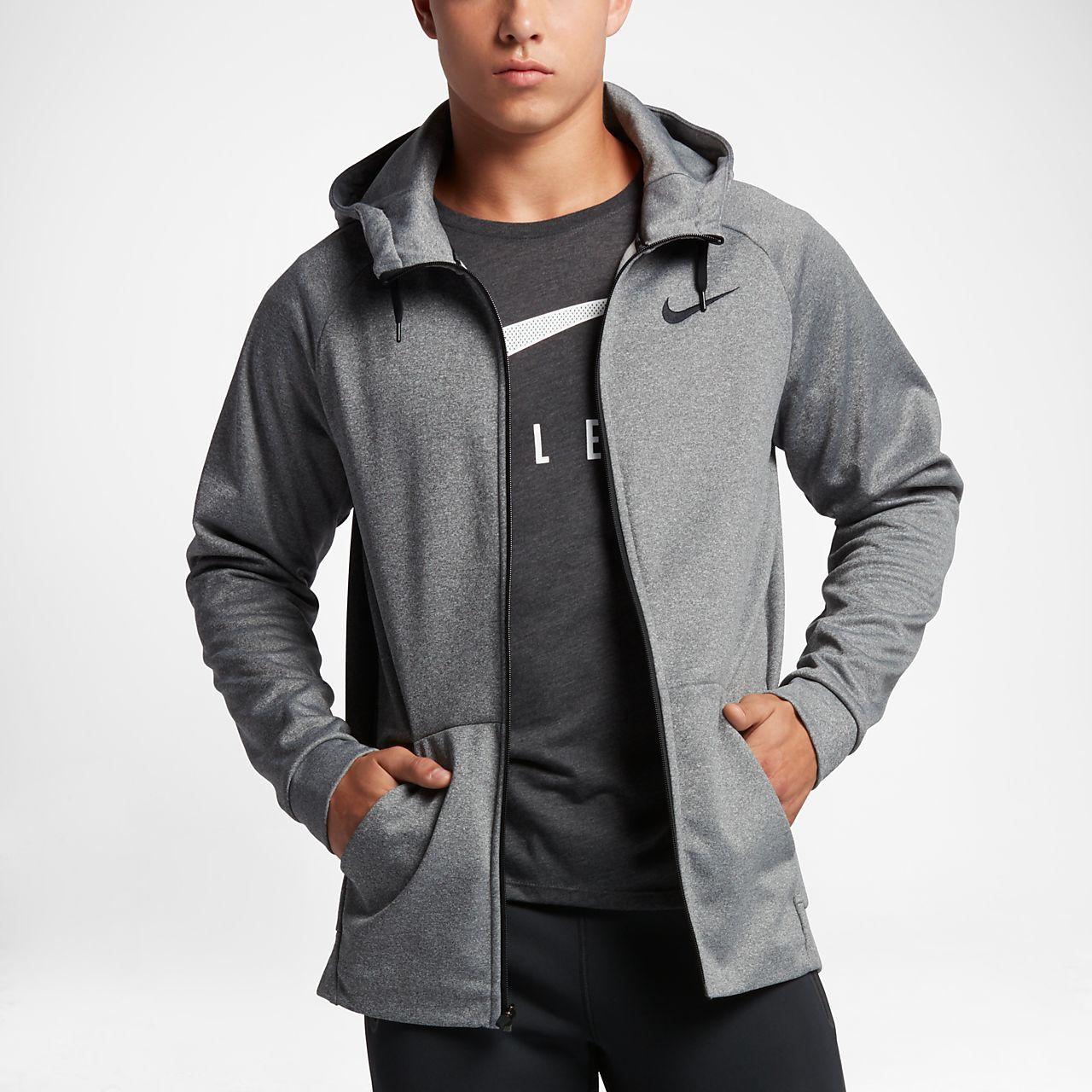 Nike Therma Men S Training Full Zip Hoodie Athletic Jacket Sweatshirt Jacket Full Zip Sweatshirt [ 1280 x 1280 Pixel ]
