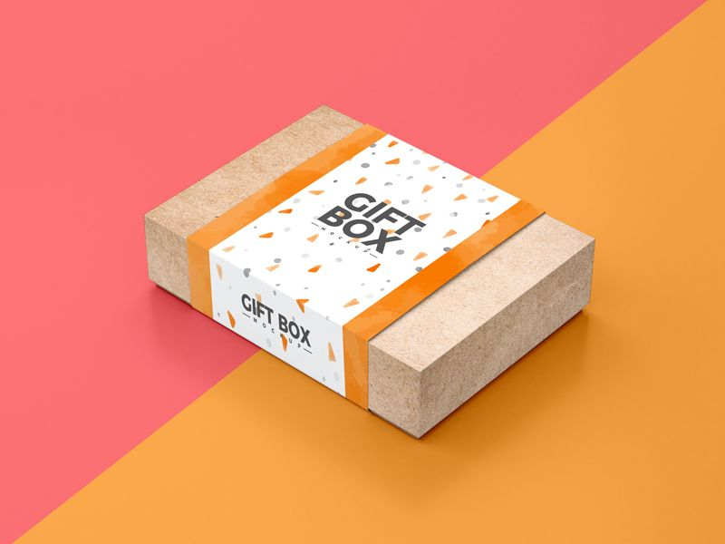 Download Free Craft Paper Gift Box Packaging Mockup Psd Dribbble Graphics Paper Gift Box Paper Gifts Paper Crafts