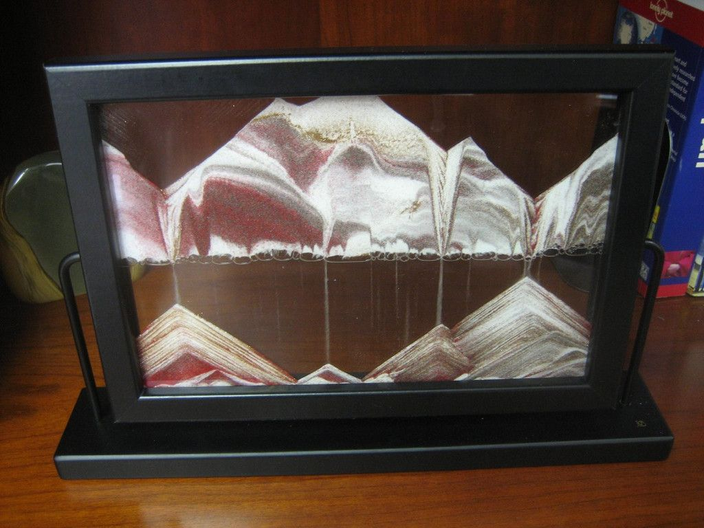 Limited edition moving sand picture black diamond in