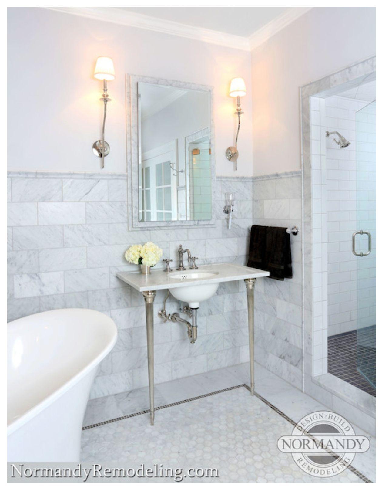 Master Bathroom Makeover Picks Finishes Miss Mustard Seed Carrera Marble Bathroom Marble Bathroom Floor Marble Bathroom