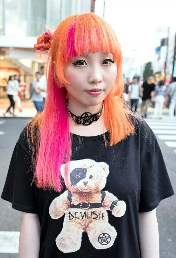 Pin By Mez On Fashion Pinterest Harajuku Hair And Color