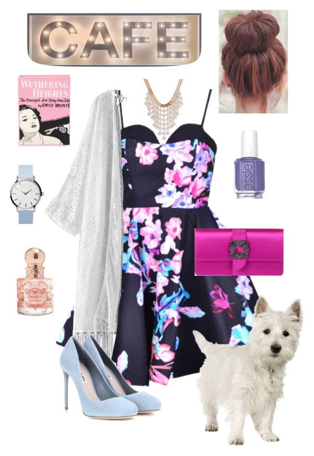"""""""To Brunch"""" by josie-e-pullen on Polyvore featuring Miu Miu, Olympia Le-Tan, Manolo Blahnik, Jessica Simpson and Essie"""