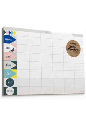 Weekly Planner Pad : lollipop : paper treats & more...