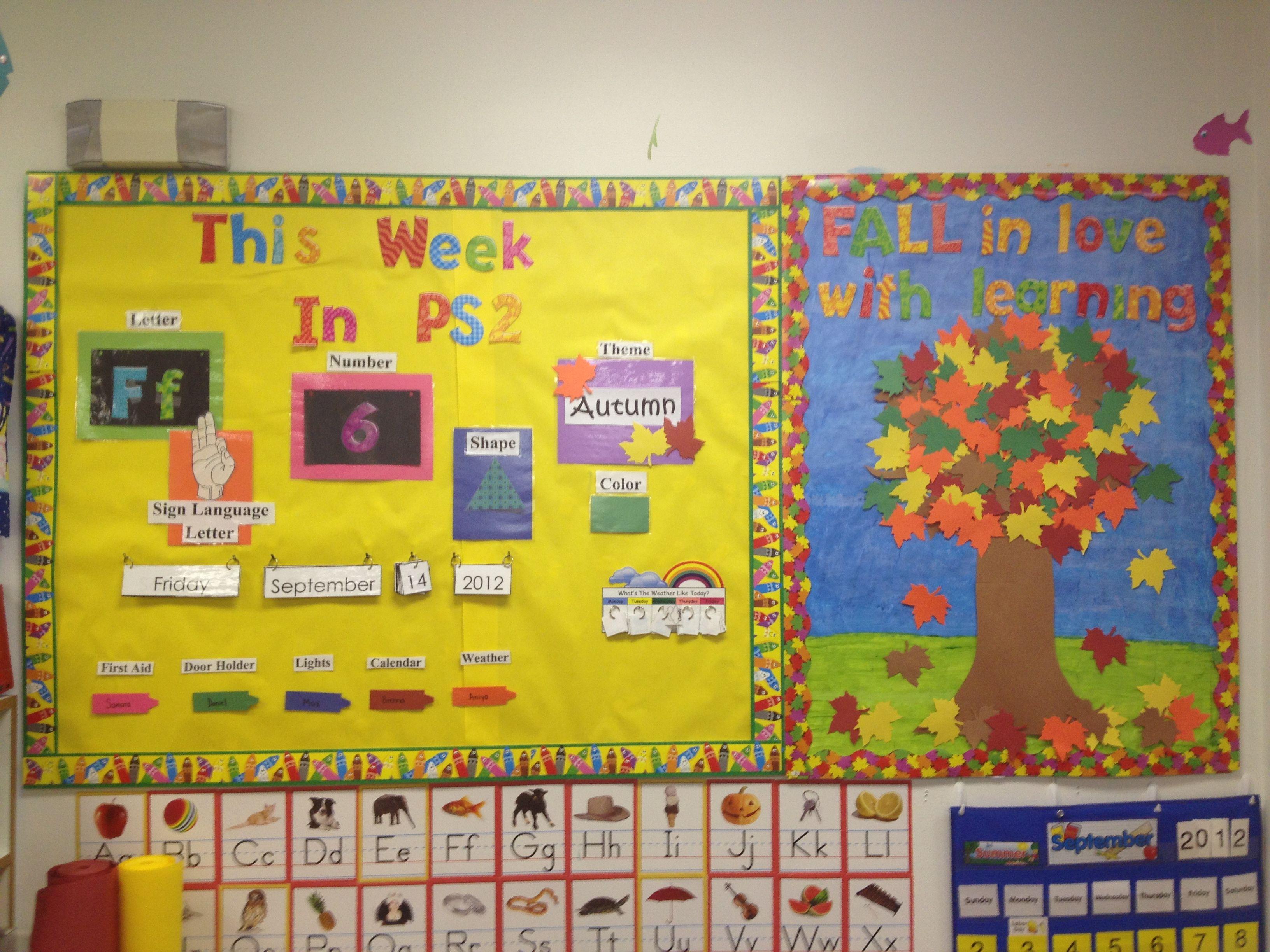 Preschool Circle Time Board