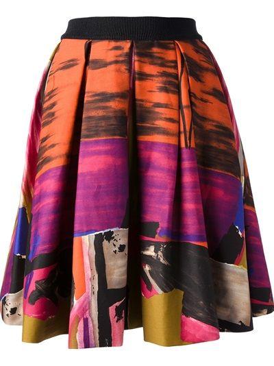 EGGS Printed Pleated Skirt