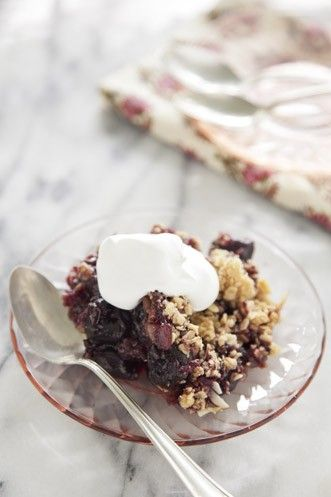 Sweet Black Cherry Crisp Recipe Recipes Pinterest Cherries