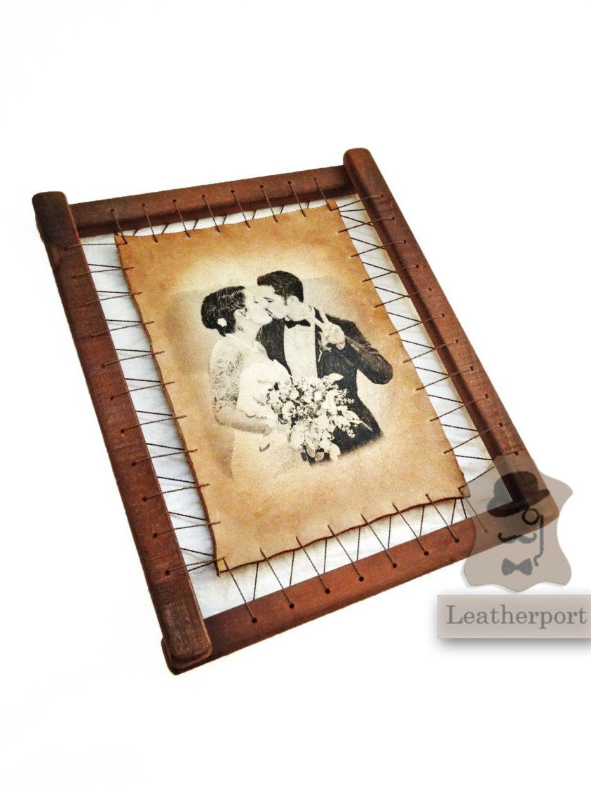 Leather Wedding Anniversary Gift Three Years Custom Leather Picture ...
