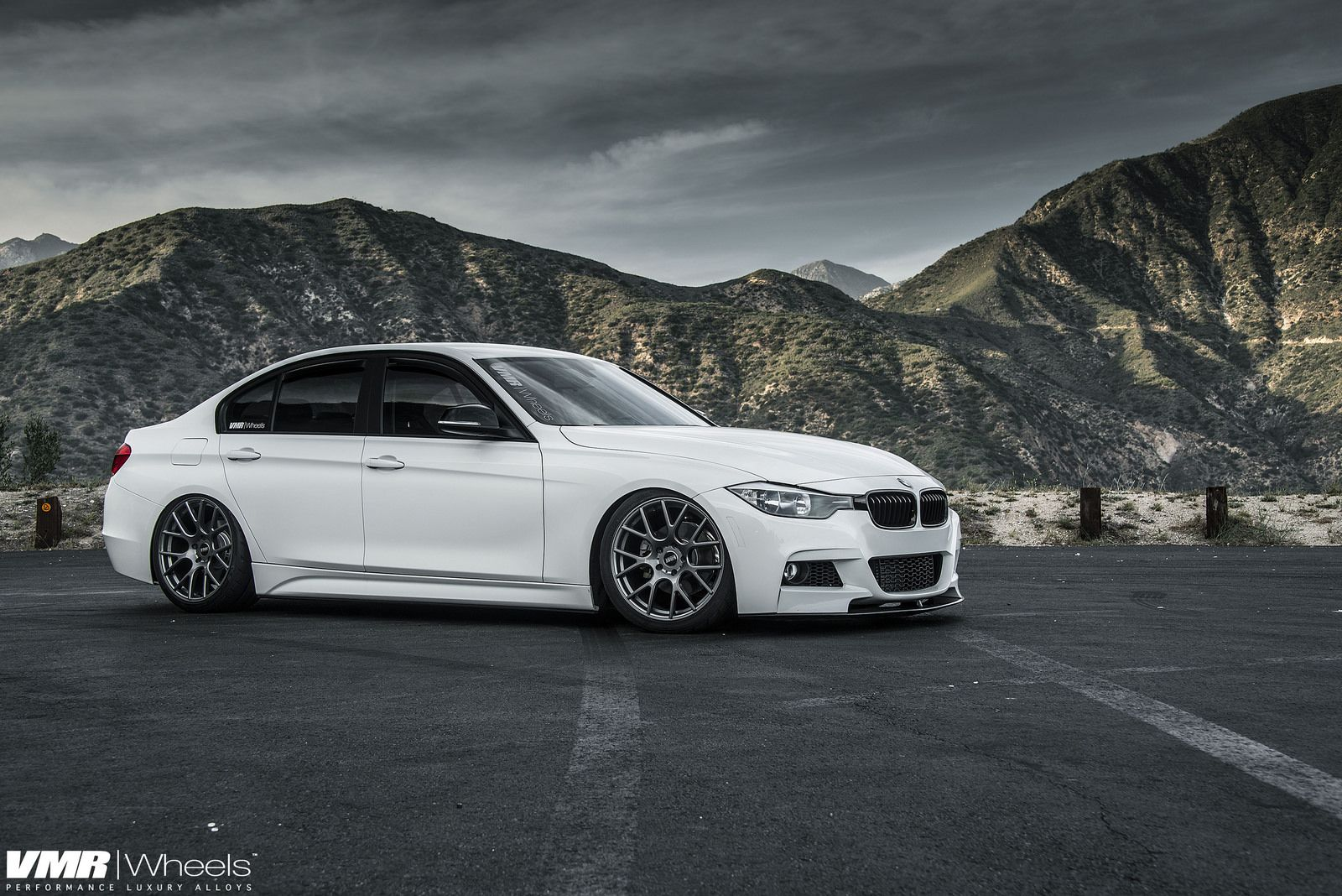 Alpine White BMW F30 328i On VMR Wheels Cars Pinterest