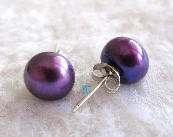 Purple Pearl Earrings Aaa 8085mm Freshwater By Pearlsstory 7 50 Sephoracolorwash