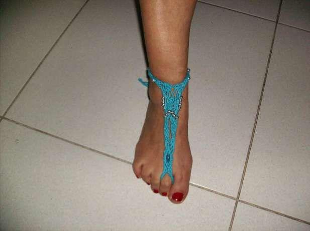 Pulseiras de pé feitas á mão de crochét Braga (São José De São Lázaro E São João Do Souto) - imagem 5