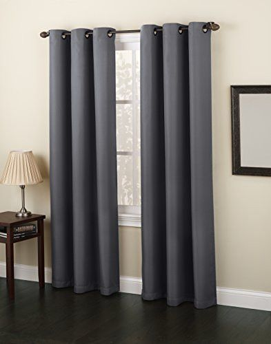 No 918 Montego Casual Textured Grommet Curtain Panel 48 X 84