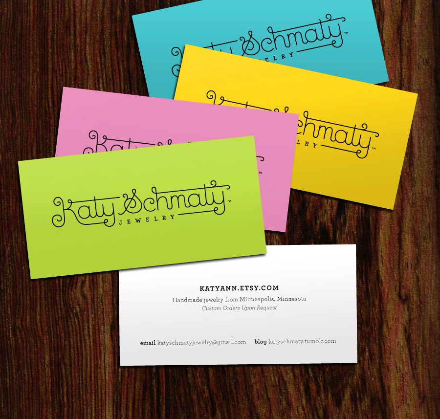 Anchalee chambundabongse katy schmaty jewelry terrific typography business cards for katy schmaty by anchalee chambundabongse reheart Images