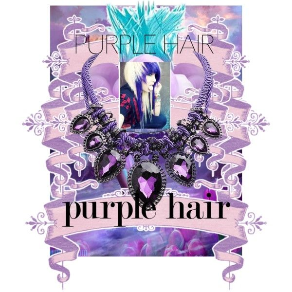 Purple Hair For A Princess? Or Not ? by kksnanny on Polyvore featuring beauty