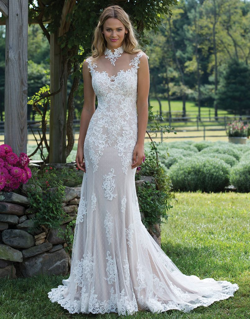 Wedding dress with collar    Lasting Bridal Couture  my dress  Pinterest  Wedding dress