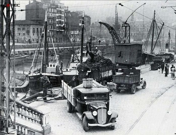 Bilbao muelle del arenal bilb0 bizkaia pinterest - Bilbao fotos antiguas ...