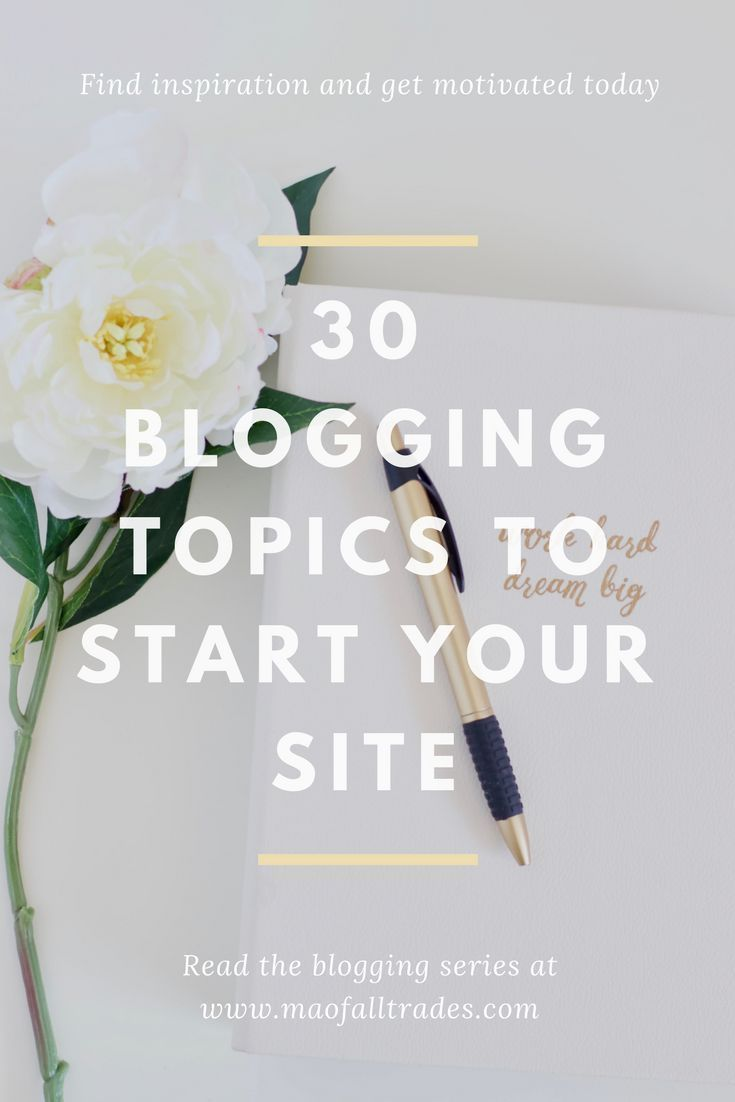 20 Blogging Topics To Spark Inspiration And Start A Site