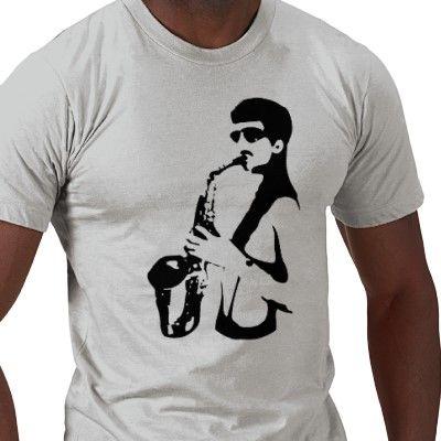 Sexy sax man shirt