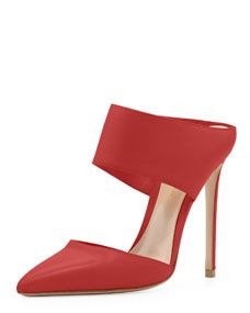 Napa Banded Point-Toe Slide, Red