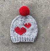 Heart Emoji Beanie pattern by McGehee Textiles #beanies