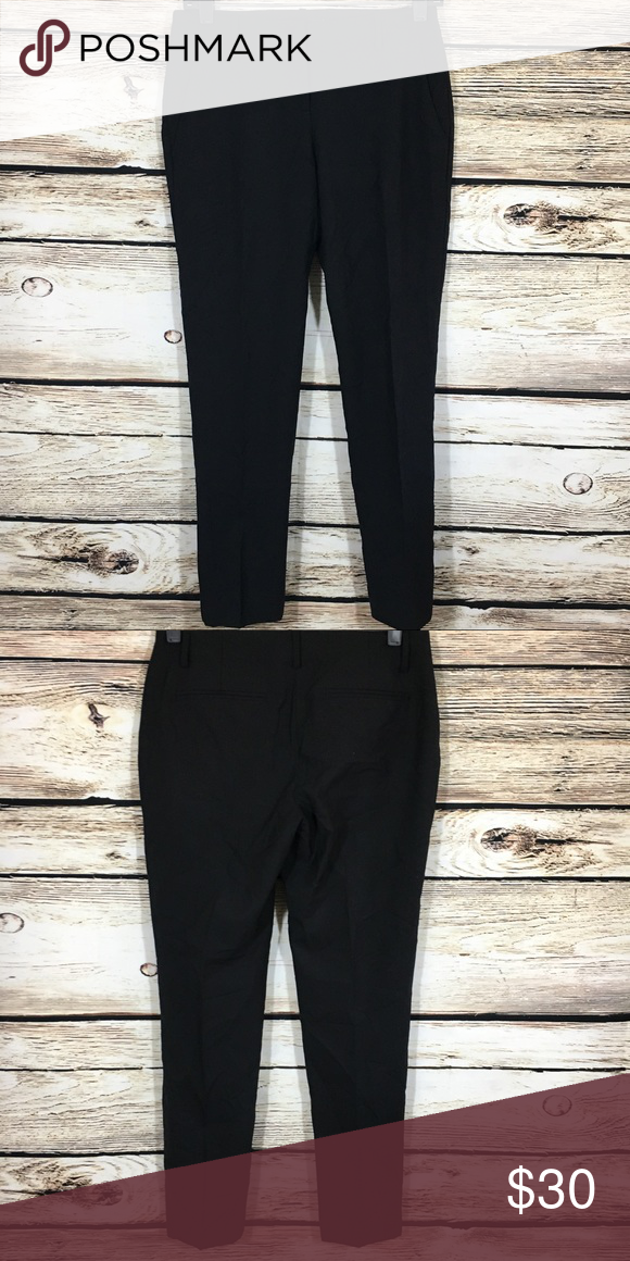 Theory Black Dress Pants Straight Slim Leg 2 Theory Black Dress