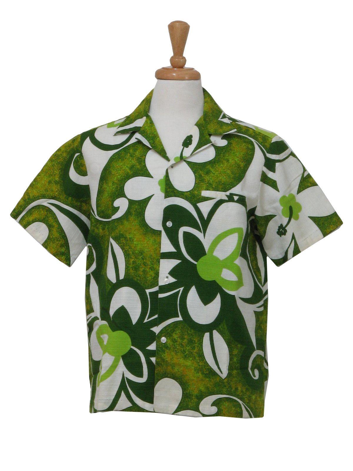 1258c0dd 1960's Surfside Sportswear, Waikiki, Hawaii Mens Mod Hawaiian Shirt ...