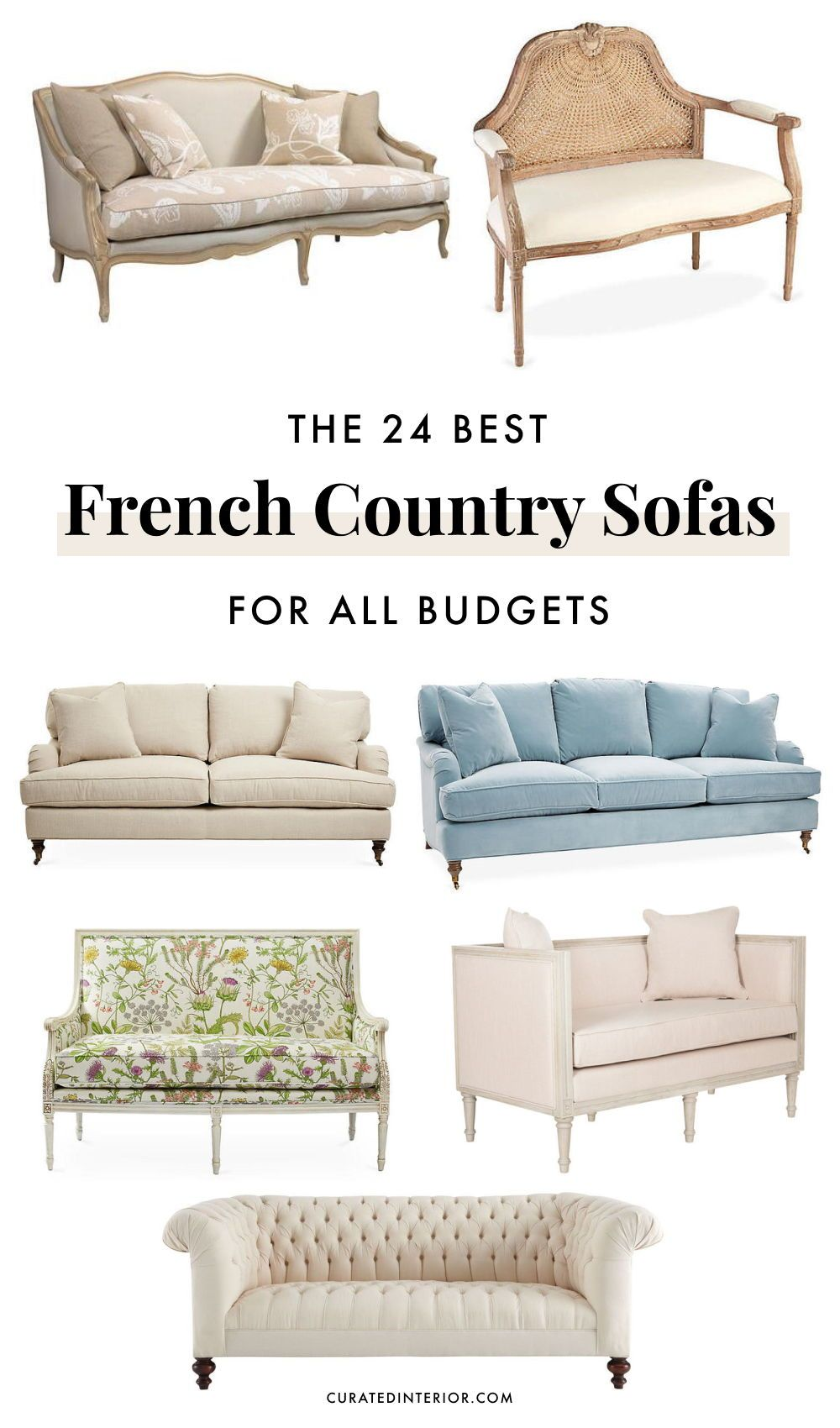 24 Gorgeous French Country Sofas For Your Living Room French Country Furniture Country Sofas French Country Sofa
