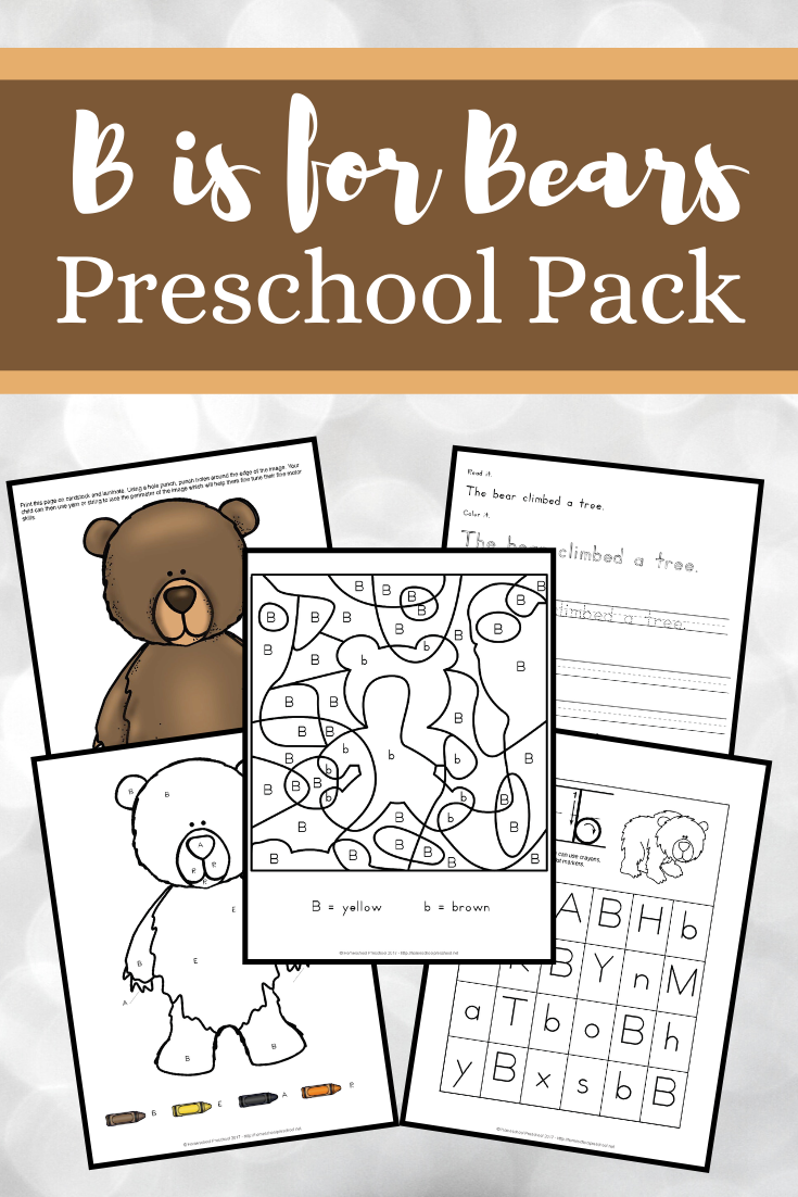 B Is For Bears Preschool Learning Pack Preschool Learning Bears Preschool Preschool Activities [ 1102 x 735 Pixel ]