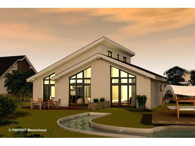 Massivhaus bungalow satteldach  Chalet 132 - #Einfamilienhaus von Bau Braune Inh. Sven Lehner ...