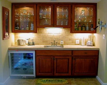 Wall Bar Built In Kitchen | And Backsplash, With A Built In Wall Humidor.