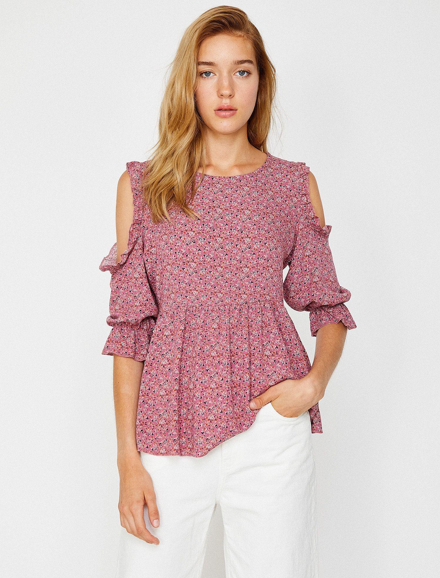 Patterned Blouse Bluz Kadin Olmak Kadin