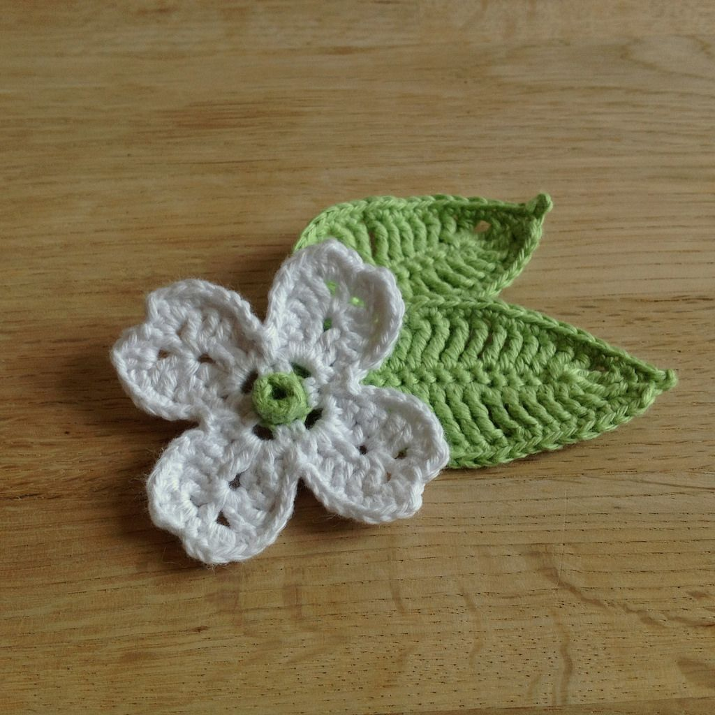 Suvi's Crochet: Dogwood Flower and Leaf