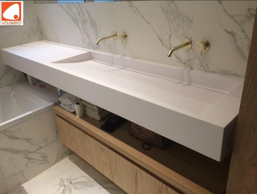 Grande Vasque Sur Mesure Avec Plan De Travail Grande Vasque Plan Vasque Lavabo Lavabo Sur Mesure Sink Washbas Salle De Bain Design Lavabo Salle De Bain