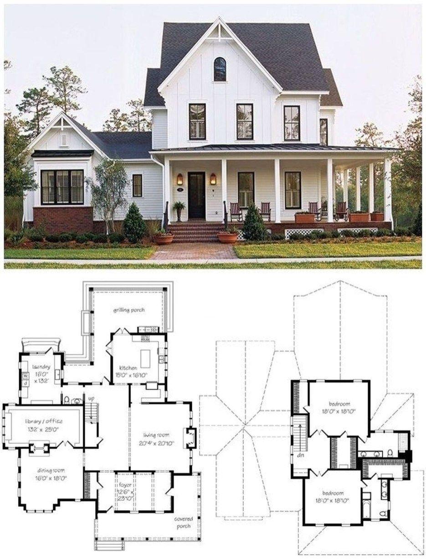 Awesome Modern Farmhouse Design House Plans Ideas45 House Plans Farmhouse Plans Modern Farmhouse Design