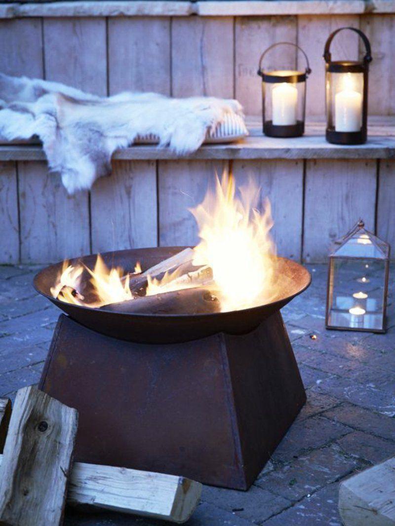 Wie Konnen Sie Eine Feuerstelle Bauen 60 Fotobeispiele Outdoor Feuerstelle Feuerstelle Garten Terrasse Dekor