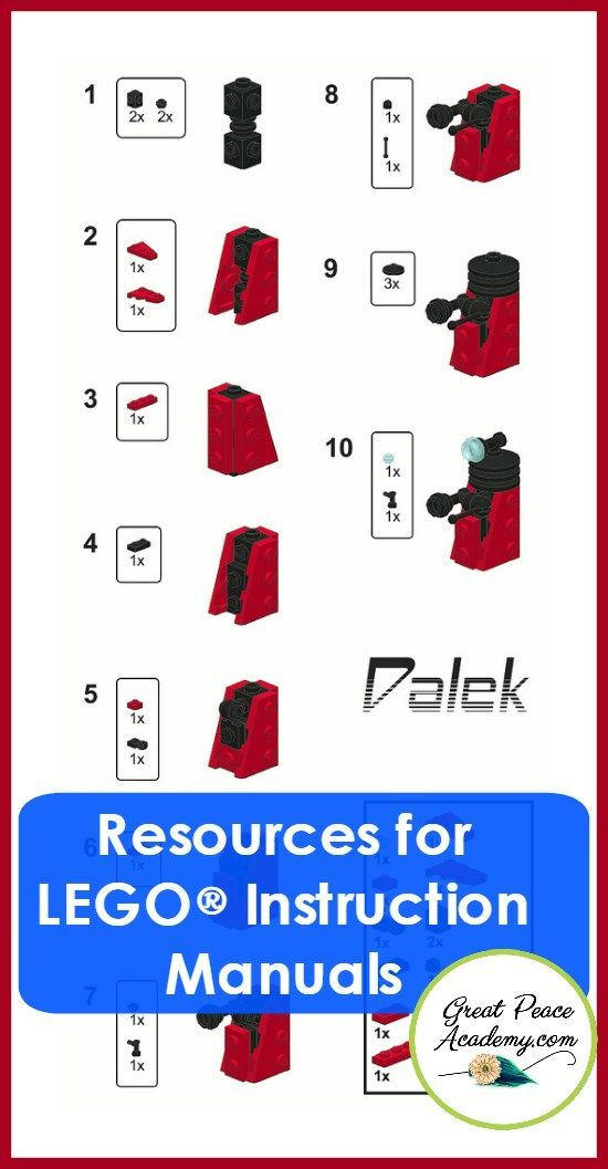 How To Find Lego Instruction Manuals Pinterest Lego Instructions