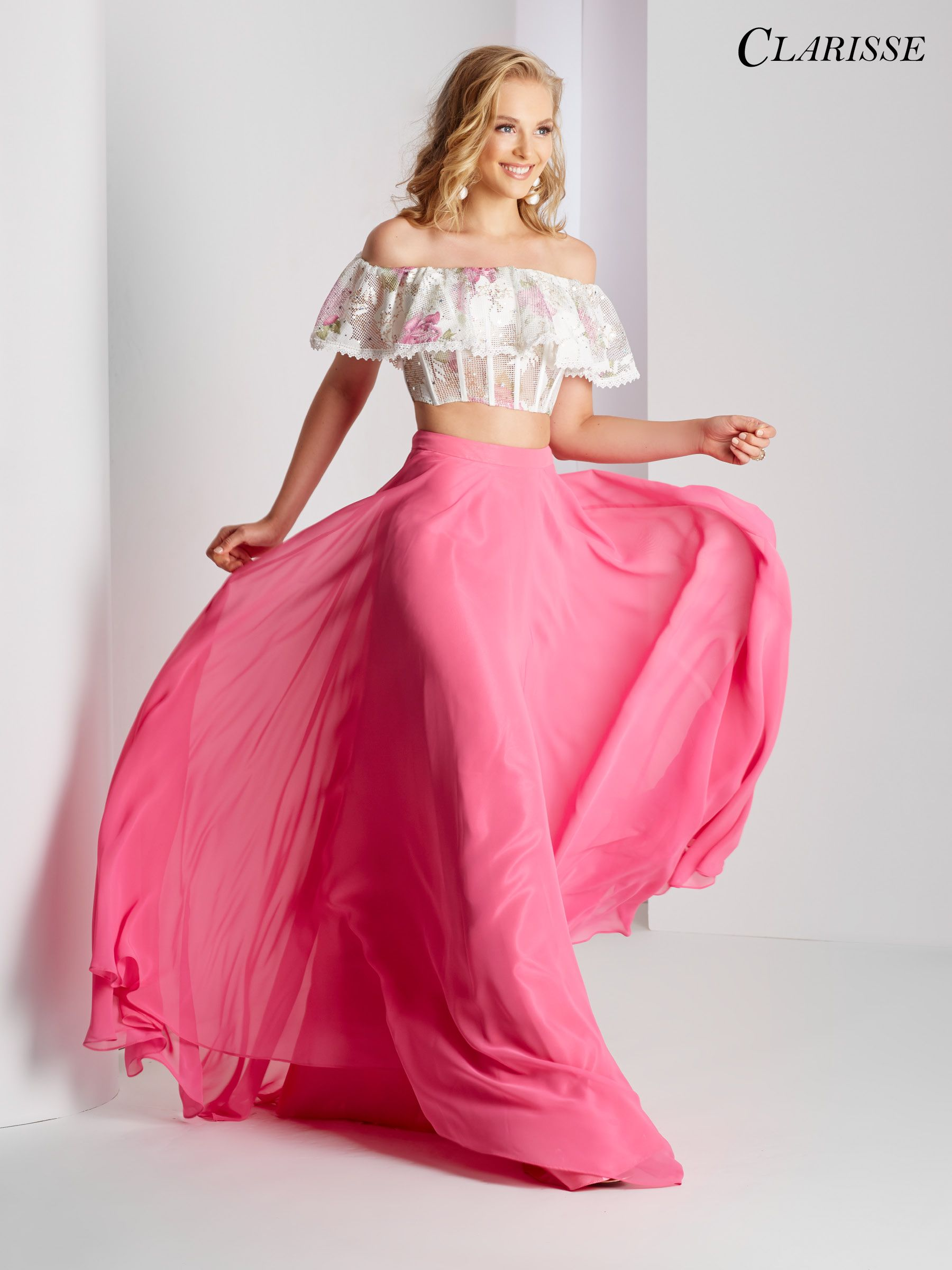 Clarisse Prom 2018 dress 3531. Two piece prom dress with off the ...