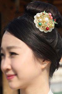 Hanbok Hair Pin Korean Traditional wood Accessory Chignon Ornament Binyeo 1+1 S